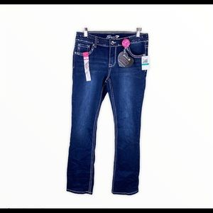 Seven7 Boot Cut Jeans Sequins & Crystal Studs NWT